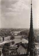 CP 75 Paris Notre Dame Flêche Vue Panoramique Vue Prise De En Flanant IB 616 Yvon - Notre Dame De Paris