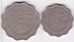 Iraq. 5 Et 10 Fils AH 1379 / 1959, En Cupro Nickel. KM# 120 Et 121 - Iraq