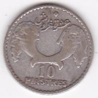 Liban - Protectorat Française 10 Piastres 1929 En Argent Lecompte : 33 - Lebanon
