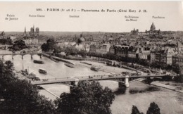 CP 75 Paris Panorama Côté Est Palais Justice Notre Dame Institut St Etienne Mont 401 JH Boisson - La Seine Et Ses Bords