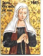 Calendrier  - Sainte Rita De Cascia  - 1981 - Small : 1981-90