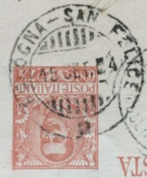 AMBULANTE BOLOGNA - SAN FELICE  * 15 SET 04 SU CARTOLINA POSTALE C.R.P. PER FINALE EMILIA - 1900-44 Vittorio Emanuele III