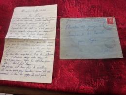 Lettre+Courrier CHANTIER JEUNESSE 17 Groupe 2-Equipe 9-Les Borrels HYÈRES Var Guerre 1939-45 Pétain Sous Régime De Vichy - Marcophilie (Lettres)