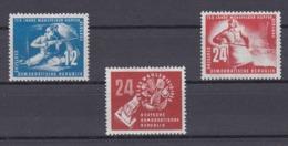 DDR Kleine Verzameling 1950 Nr 25/27 *, Zeer Mooi Lot Krt 4166 - Colecciones (sin álbumes)