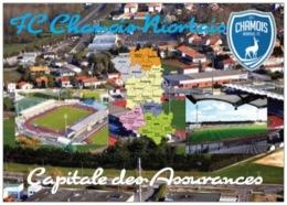 Stade De Football - Stade René Gaillard - Niort - Capitale Des Assurances - 3 Vues + Carte Géo - Cpm - Vierge - - Fussball
