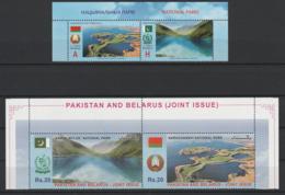 Bielorussie Pakistan 2016 Emission Commune Parcs Nationaux Belarus Pakistan Joint Issue National Parks - Emissions Communes
