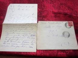 WW2-Lettre+Courrier CHANTIER JEUNESSE 17 Groupe 2-Equipe 9-Les Borrels HYÈRES Var Guerre 1939-45 Pétain Régime De Vichy - Marcophilie (Lettres)