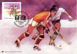 PORTUGAL. N°1538 De 1982 Sur Carte Maximum. Hockey Sur Patins à Roulettes. - Rasenhockey