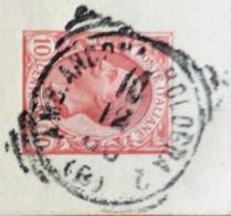 AMBULANTE ANCONA-BOLOGNA 2 (B) 10/12/08  SU CARTOLINA POSTALE  DA SENIGALLIA A BOLOGNA - 1900-44 Vittorio Emanuele III