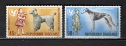 TOGO N° PA 65 + 66   NEUFS SANS CHARNIERE COTE  4.50€  UNICEF ANIMAUX CHIEN - Togo (1960-...)