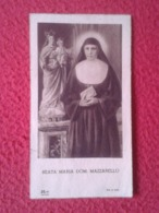 ITALIA ITALY TARJETA ESTAMPA RELIGIOSA RECORDATORIO RELIGIOSO BEATA MARÍA DOM. MAZZARELLO, DON BOSCO....VER FOTOS Y DESC - Religión & Esoterismo