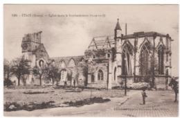 CPA, Etain , église Après Le Bombardement  (E) - Etain