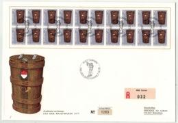 Suisse // Schweiz // Switzerland //  Pro-Juventute  //  Lettre Recom. Timbre No.252 En Bloc De 20 J.t ( Format 263/178) - Pro Juventute