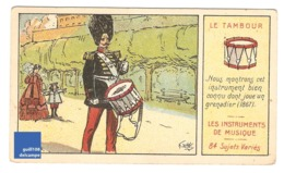 Chromo Instrument De Musique Le Tambour Grenadier Soldat Armée Costume Folklore Musicien A30-24 - Cromo