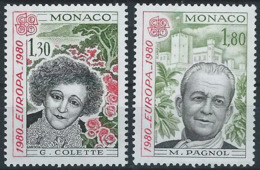 QQ-/-170-   EUROPA 80 - N° 1224/25 De FEUILLE, * *  , COTE 2.50 €, Je Liquide - Monaco