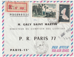 MADAGASCAR - LETTRE Recommandée : Tsaralalana Le 28/07/1960 - Madagascar (1960-...)