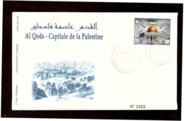 Maroc. FDC Avec Timbre 2019. Al Qods - Capitale De La Palestine. Cachet De Marrakech. - Marruecos (1956-...)