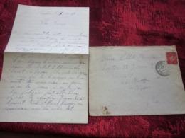WW2-Lettre+Courrier CHANTIER JEUNESSE 13 Groupe 4-Equipe -Les Borrels HYÈRES Var Guerre 1939-45 Pétain Régime De Vichy - Marcophilie (Lettres)
