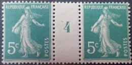 R1189/140 - TYPE SEMEUSE - N°137 (I) TIMBRES NEUFS** Millésime 4 (1914) - Millesimes