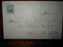 Lettre GC 3416 Sisteron Basses Alpes Avec Correspondance - 1849-1876: Période Classique