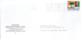 """Enveloppe à En Tête """"Domaine Thevenot-Le-Brun & Fils, Viticulteurs"""" Avec Flamme Nuits-St-Georges - Alimentaire"""
