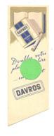 """Marque-pages - Cigarettes """" DAVROS """" Bleue - Fumeur, Tabac, ...  Librairie """" La Porte Etroite """" à Bruxelles (b260/4) - Marque-Pages"""