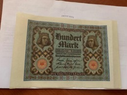 Germany 100 Marks Reich Banknote 1920 - 100 Mark