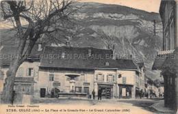 Culoz CAFE DU MARCHE - PHARMACIE - Fontaine La Place Et La Grand Rue Le Grand Colombier Lezignan La Cebe - France