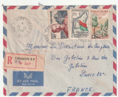 MADAGASCAR - LETTRE Recommandée : Tananarive Le 12/11/1960 - Madagascar (1960-...)