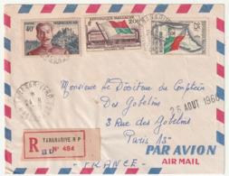 MADAGASCAR - LETTRE Recommandée : Tananarive Le 24/08/1960 - Madagascar (1960-...)