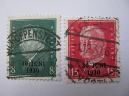 Deutsches Reich  444 - 445  O - Gebraucht