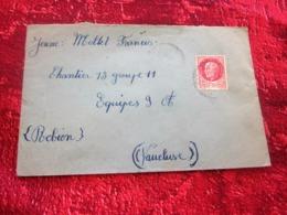 WW2-Lettre CHANTIER JEUNESSE 13 Groupe 4-Equipe 11-Infirmerie Robion 84 -Guerre 1939-45 Pétain Régime De Vichy - Marcophilie (Lettres)