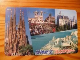 Phonecard Japan 110-016 Greece, Spain - Japan