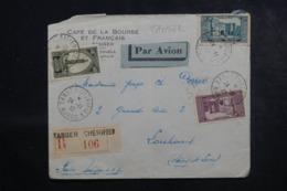 MAROC - Enveloppe Commerciale En Recommandé De Tanger Pour La France En 1932 , Affranchissement Plaisant - L 44623 - Marocco (1891-1956)