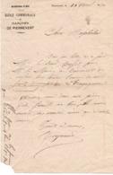 99Sv  13 Marseille Lettre Courrier Ecole Communale De Pierrevert En 1890 - Manoscritti