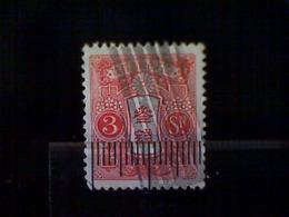 Japan, Scott #242, Used (o), 1937, Chrysanthemum And Designs, 3s, Rose - 1926-89 Emperor Hirohito (Showa Era)