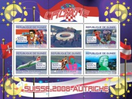 "Guinea 2008 MNH - Croatian Football Players, ""Swiss Air"" Aircraft, W.A.Mozart. YT 3302-3306, Mi 5356-5360 - Guinea (1958-...)"