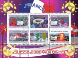 Guinea 2008 MNH - French Football Players, Swiss Helicopter, Austrian Composer Gustav Mahler. YT 3312-3316, Mi 5366-5370 - Guinea (1958-...)