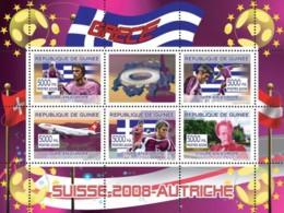 "Guinea 2008 MNH - Greek Football Players, ""Swiss Air"" Aircraft, Gustav Mahler. YT 3317-3321, Mi 5371-5375 - Guinea (1958-...)"