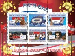 Guinea 2008 MNH - Dutch Football Players, Swiss Train, Romy Schneider. YT 3327-3331, Mi 5381-5385 - Guinea (1958-...)