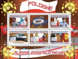 Guinea 2008 MNH - Polish Football Players, Swiss Train, Gustav Klimt. YT 3332-3336, Mi 5386-5390 - Guinea (1958-...)