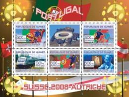 Guinea 2008 MNH - Portugal Football Players, Swiss Train, Gustav Klimt. YT 3337-3341, Mi 5391-5395 - Guinea (1958-...)