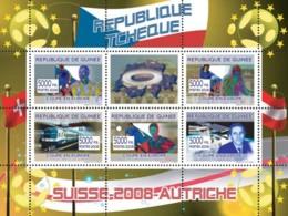 Guinea 2008 MNH - Czech Football Players, Swiss Train, Franz Vienhbock & Space Station. YT 3342-3346, Mi 5369-5400 - Guinea (1958-...)