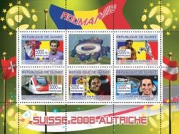 Guinea 2008 MNH - Rumanian Football Players, Swiss Train, Franz Vienhbock & Space Station YT 3347-3351, Mi 5401-5405 - Guinea (1958-...)