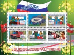 Guinea 2008 MNH - Russian Football Players, Swiss Ambulance, Gerard Berger. YT 3352-3356, Mi 5406-5410 - Guinea (1958-...)