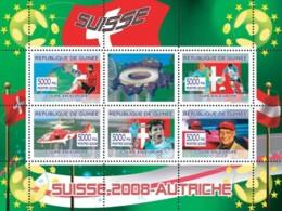 Guinea 2008 MNH - Swiss Football Players, Swiss Rescue Helicopter, Niki Lauda. YT 3362-3366, Mi 5416-5420 - Guinea (1958-...)