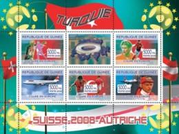 """Guinea 2008 MNH - Turkish Football Players, """"Swiss Air"""" Aircraft, Niki Lauda. YT 3367-3371, Mi 5421-5425 - Guinea (1958-...)"""