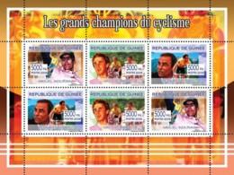 Guinea 2008 MNH - Les Grands Champions Dy Cyclisme. YT 3375-3377, Mi 5426-5431 - Guinea (1958-...)
