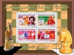 Guinea 2008 MNH - Hommage A Bobby Fischer. YT 3378-3381, Mi 5444-5447 - Guinea (1958-...)