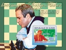 Guinea 2008 MNH - Hommage A Bobby Fischer: & Garry Kasparov. YT 826, Mi 5449/BL1496 - Guinea (1958-...)